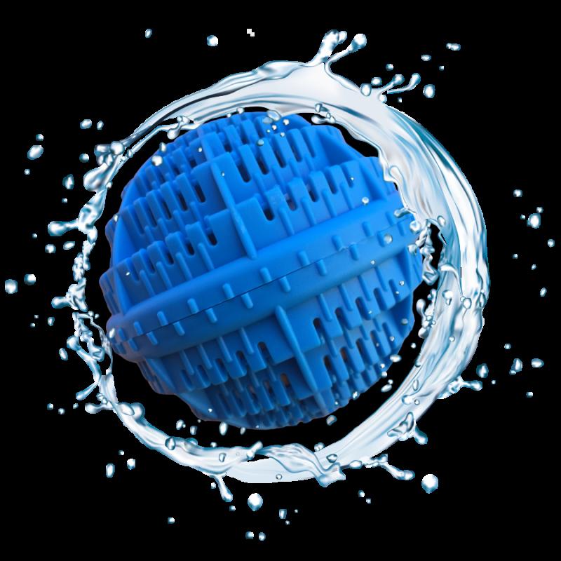 Waschball reinigt die Wäsche in der Waschmaschine auf physikalischem Weg.